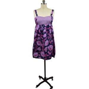 Anthropologie Eloise Purple Floral Sundress Small